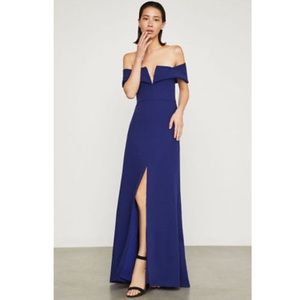 BCBGMAXAZRIA Amelia Off-The-Shoulder Gown